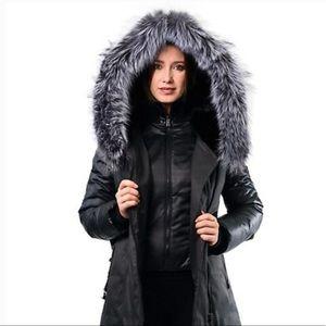 Women's Sicily fur-trimmed winter coat Small